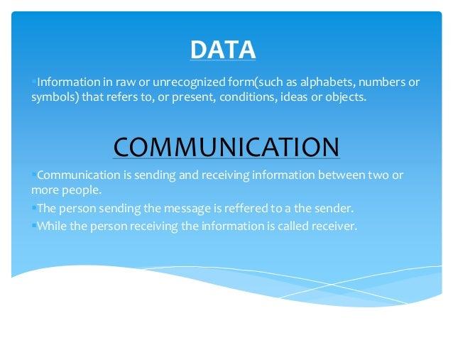 Data communication and communication Media