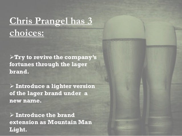 ansoff matrix of mountain man brewing Alcohol drinks, blue collars - case study mountain man brewing company   team fme, 2013, ansoff matrix, wwwfree-management-ebookscom,  viewed.
