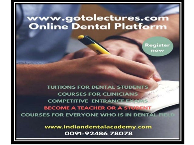 online interactive dental courses in all subjects