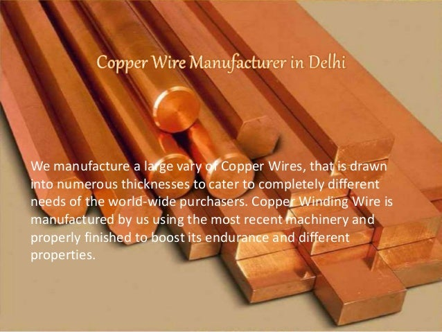 7. We manufacture a large vary of Copper Wires that is ... : is copper wiring safe - yogabreezes.com