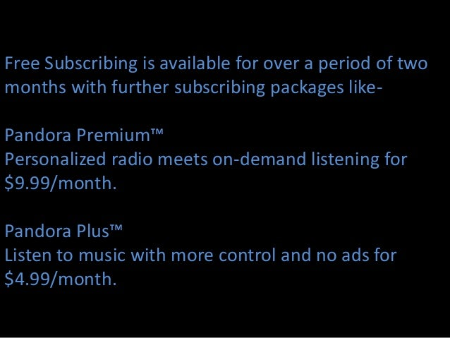 Pandora radio-marketing plan