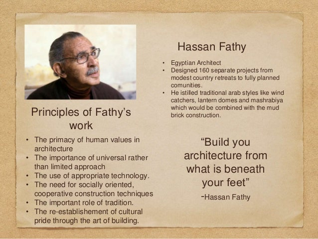 Ancient Egyptian Houses, and influence on Hassan Fathy