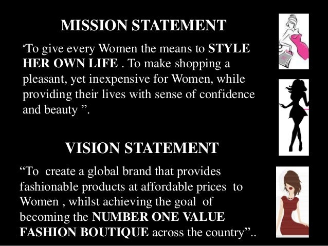 Mission statement clothing store