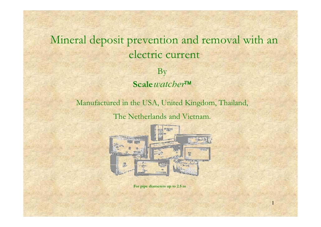 Mineral d Mi    l deposit prevention and removal with an              i          i     d      l ih                 electri...
