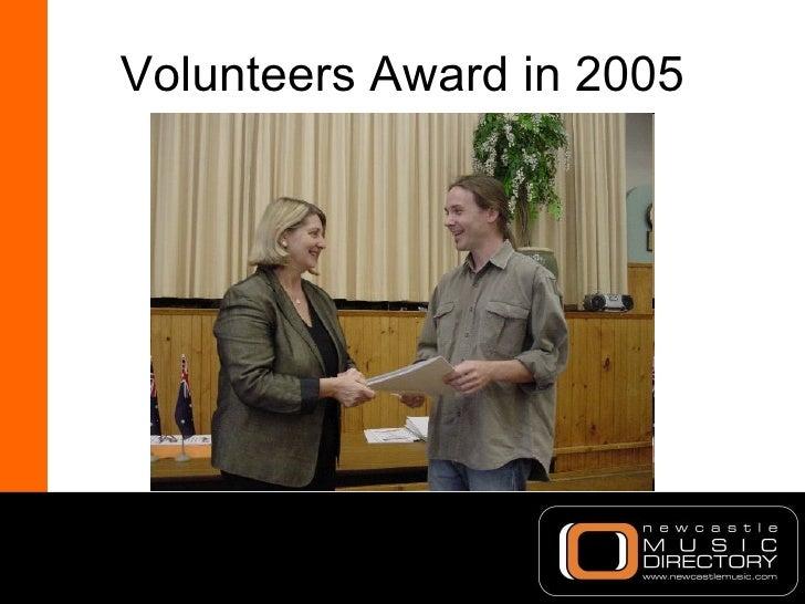 Volunteers Award in 2005