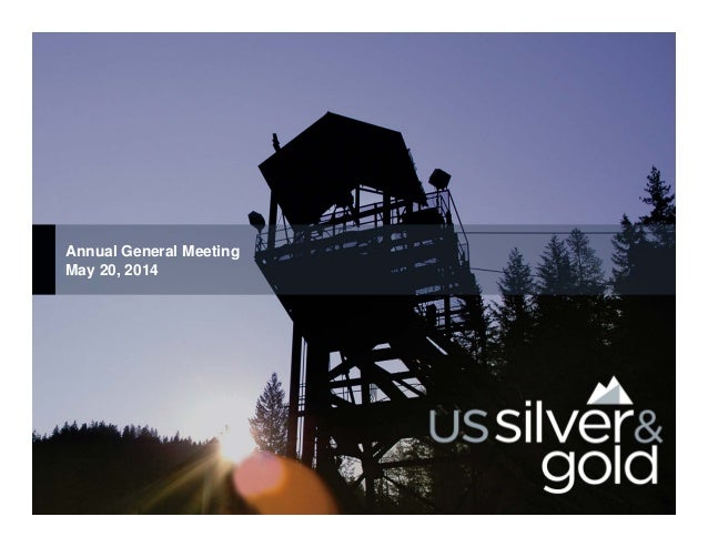 Annual General Meeting May 20, 2014