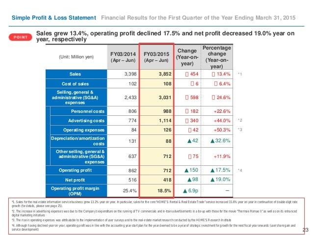 Doc460595 Quarterly Profit and Loss Statement Income – Quarterly Profit and Loss Template