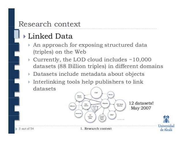 Interlinking educational data to Web of Data (Thesis presentation) Slide 3