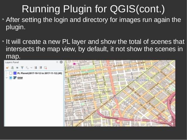 Catalog Planet Labs Plugin for QGIS - V1