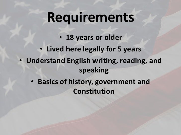 An overview of the steps to become a naturalized citizen