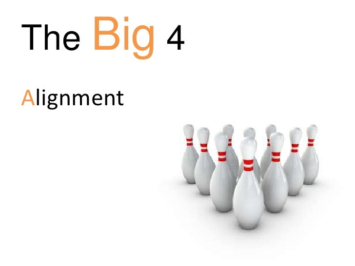 The Big 4<br />Alignment<br />