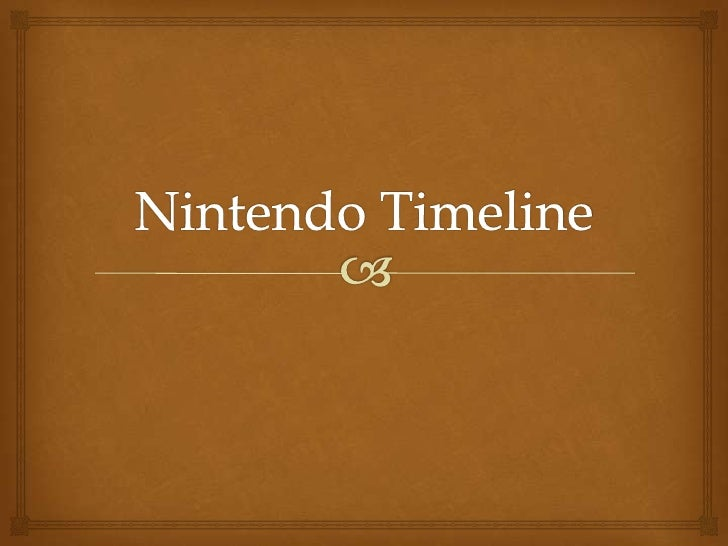 NintendoNintendo is a company that has been upgrading trying to become abetter stock. So heres a timeline showing you how ...