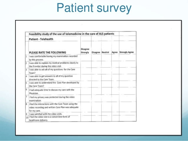 Provider Survey; 29. Results  Overall Patient Satisfaction ...