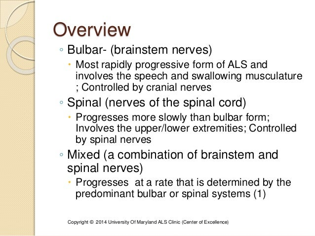 Presentation 228 denise epps neurogenic dysphagia role of for Bulbar motor neuron disease