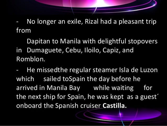 chapter 22 exile in dapitan summary Chapter 22 exile in dapitan(1892-1895) rizal lived in dapitan, a remote town in mindanao which was under the missionary jurisdiction of jesuits from 1893 to 1896.