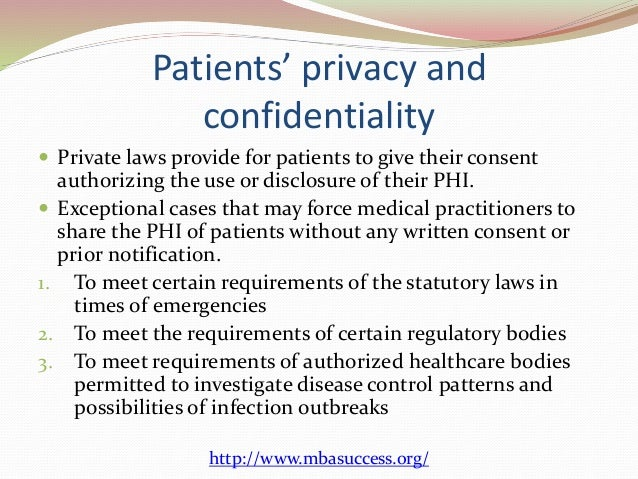 Patients' Privacy And Confidentiality