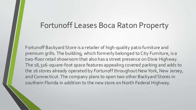 Fortunoff Leases Boca Raton Property