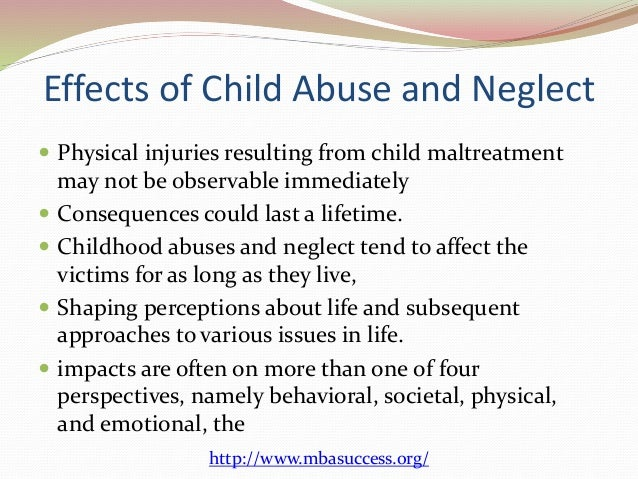the problem of child abuse and neglect by parents in australia Faculty of law, australian centre for health law research,  keywords: child  abuse and neglect heterogeneity mandatory reporting laws differential  there  are good reasons to do so, both as a matter of principle and  from all forms of  abuse and exploitation while in the care of parents and caregivers.