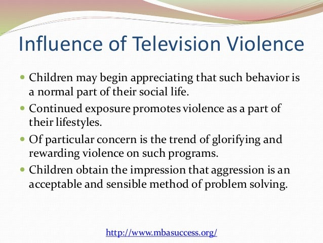 The violence on television essay