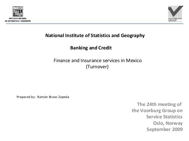 National Institute of Statistics and Geography Banking and Credit Finance and Insurance services in Mexico (Turnover) Prep...