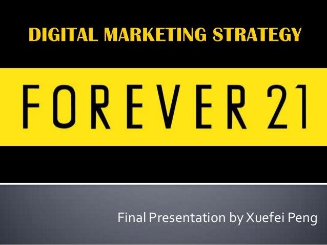 Final Presentation by Xuefei Peng