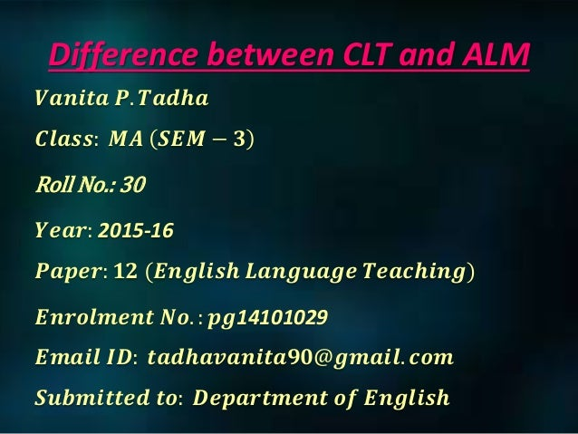 difference between audiolingual and community language By abdul bari communicative language teaching and audio-lingual method:  definition communicative language teaching (clt) is an.