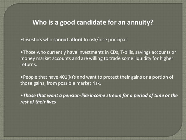 demystifying annuities