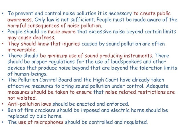 Types of pollution- noise pollution