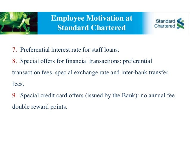 standard chartered bank performance appraisal Standard chartered bank case study/ hr management problem: a talent for numbers financial services provider standard chartered is in  performance appraisal,.