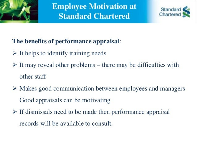 standard chartered bank performance appraisal Standard chartered bank (nepal): we offer a wide range of financial services that   our performance reviews have taken into account the extent to which our.