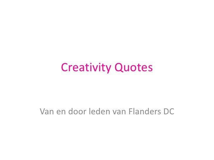 100 Creativity Quotes