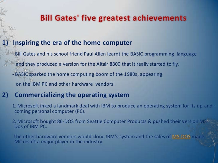 contributions of bill gates essay Free bill gates papers, essays, and research papers.