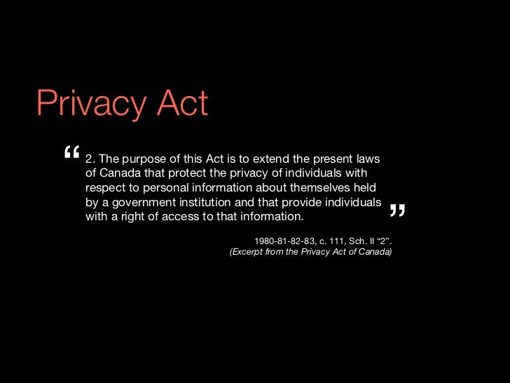 Your Privacy Rights under Canada's PIPEDA