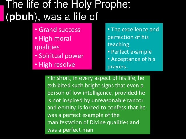 Life of Holy Prophet (pbuh)