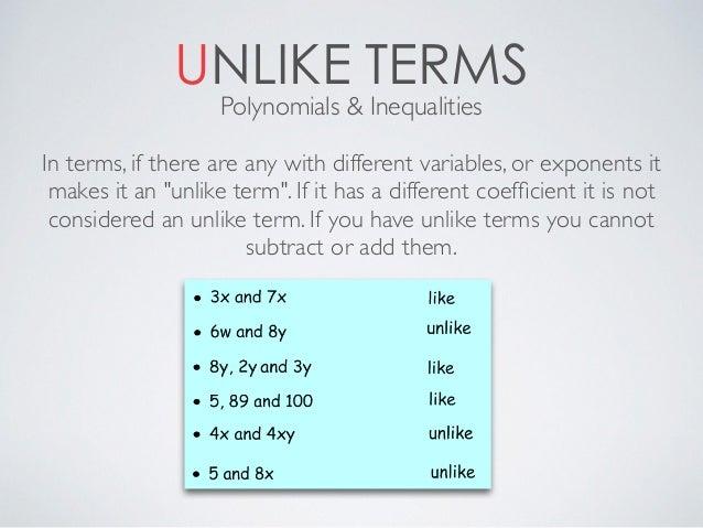 Unlike Terms