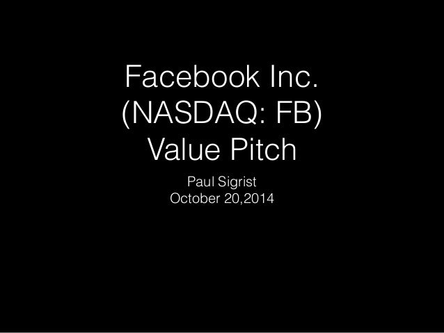 Facebook Stock Pitch Deck