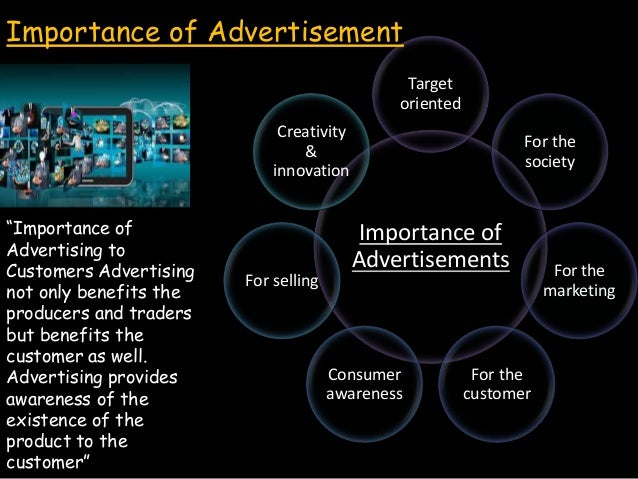 Importance or Benefits in Advertisements