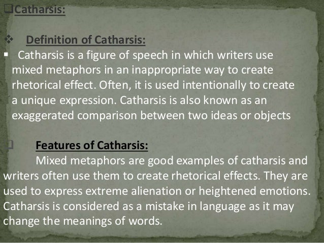 definition of catharsis in literature