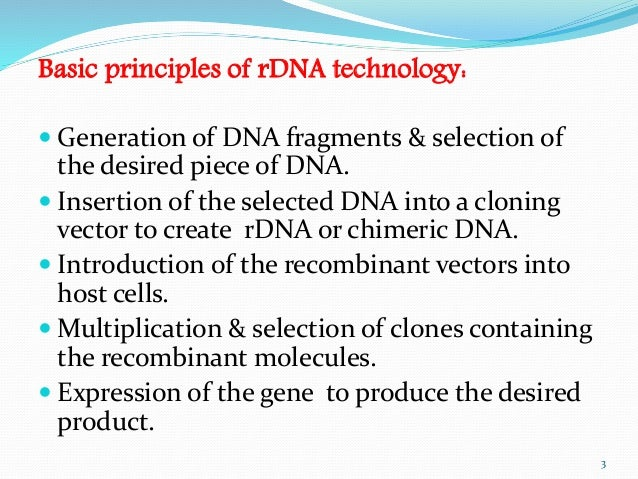 principle and applications of recombinant dna technology