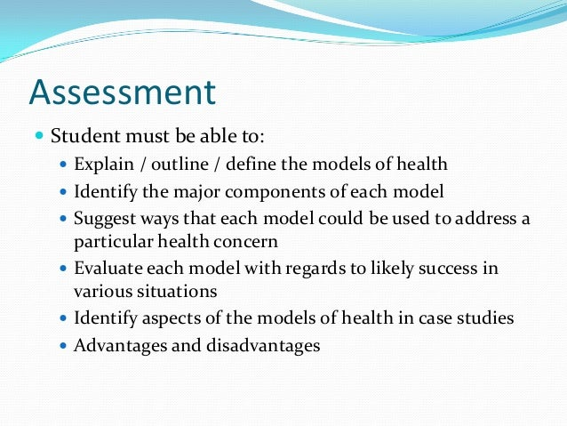 disadvantages of socio medical model The social model arose in response to the critique of the medical model of disability it  as a socio-cultural rather  also to argue that these disadvantages .