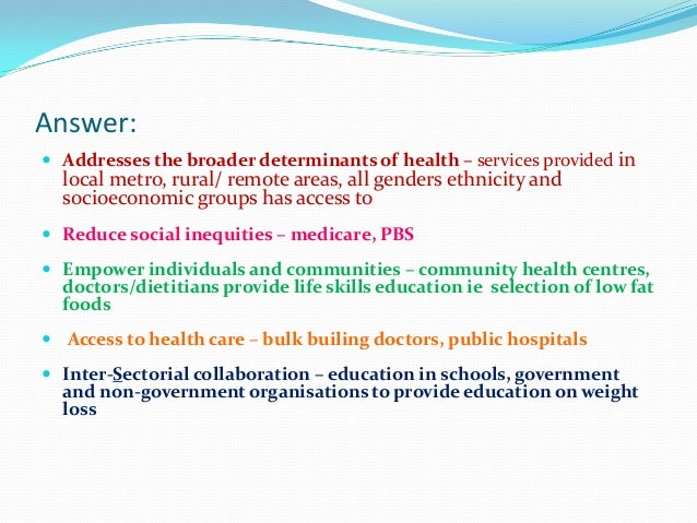 8 Prerequisites for health                                   These 8 conditions or resources Peace                       ...