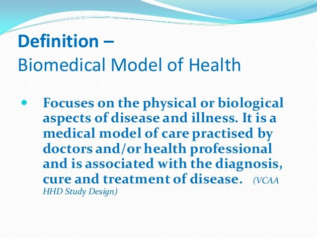 biomedical model of disability Biomedical model of health biomedical model of health is an approach which eliminates psychological and more about medical and social models of disability essay.
