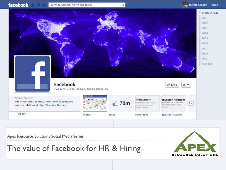 Apex Resource Solutions Social Media SeriesThe value of Facebook for HR & Hiring