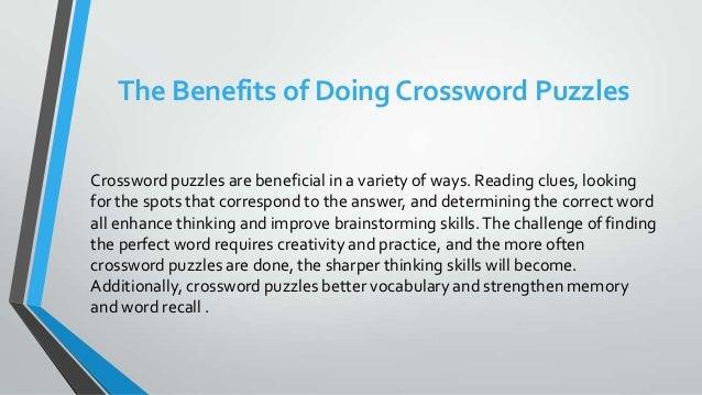 3.  sc 1 st  SlideShare & the-benefits-of-doing-crossword-puzzles-3-638.jpg?cbu003d1394107097 25forcollege.com