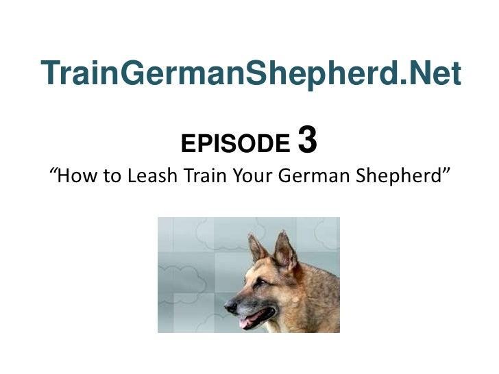 "TrainGermanShepherd.Net<br />EPISODE 3""How to Leash Train Your German Shepherd""<br />"