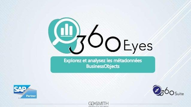 Explorez et analysez les métadonnées BusinessObjects