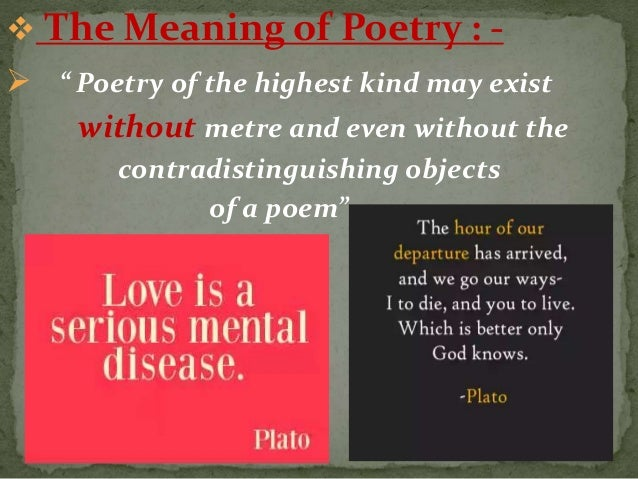 difference between poem and poetry pdf