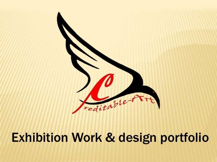 Exhibition Work & design portfolio<br />