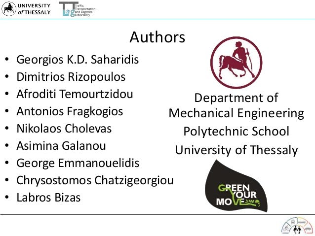 Authors • Georgios K.D. Saharidis • Dimitrios Rizopoulos • Afroditi Temourtzidou • Antonios Fragkogios • Nikolaos Cholevas...