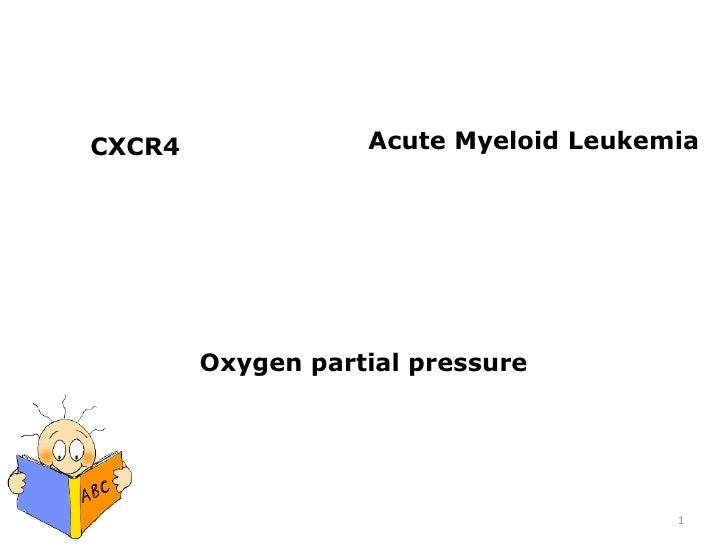 Acute Myeloid Leukemia<br />CXCR4<br />Oxygen partial pressure<br />1<br />